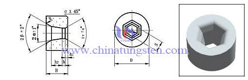 六方形型材鎢鋼拉伸模